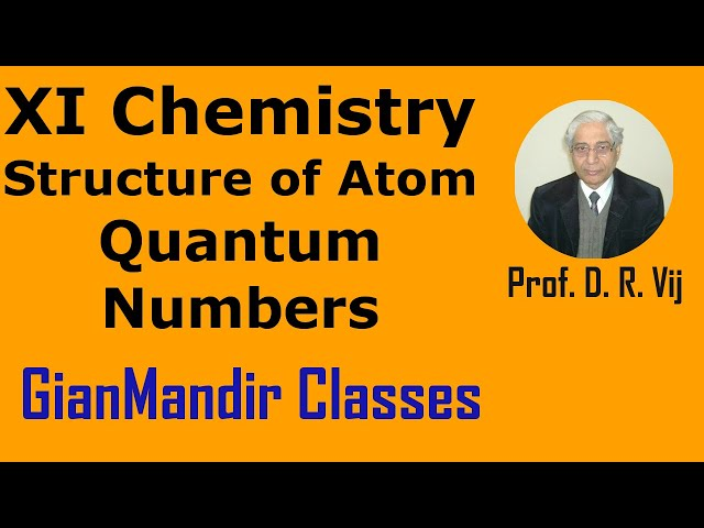 XI Chemistry - Structure of Atoms - Quantum Numbers by Ruchi Mam