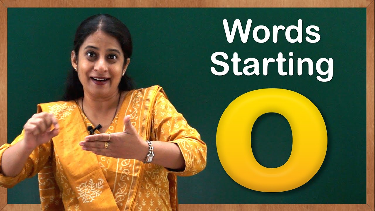 Worksheet Words That Start With O For Kids learn words starting with o flash cards letter toddler youtube