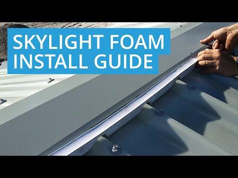 How to Install Skylight Foam
