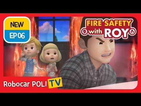 🔥fire-safety-with-roy-|-ep06-|-our-family-fire-drill!-|-robocar-poli-|-kids-animation