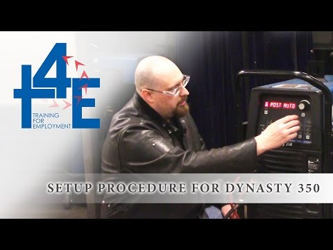 T4E - Setup Procedure For Dynasty 350 (GTAW)
