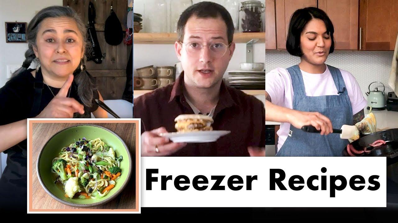 Pro Chefs Make 8 Different Freezer Meals | Test Kitchen Talks @ Home | Bon Appétit