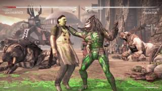 Mortal Kombat X Leatherface vs Predator
