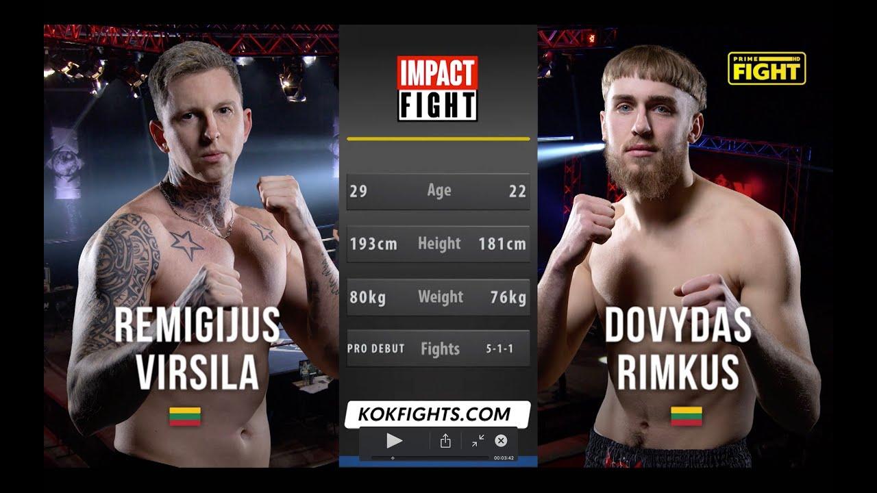 VIRŠILA  vs  RIMKENZO / IMPACT FIGHT _ Full Fight