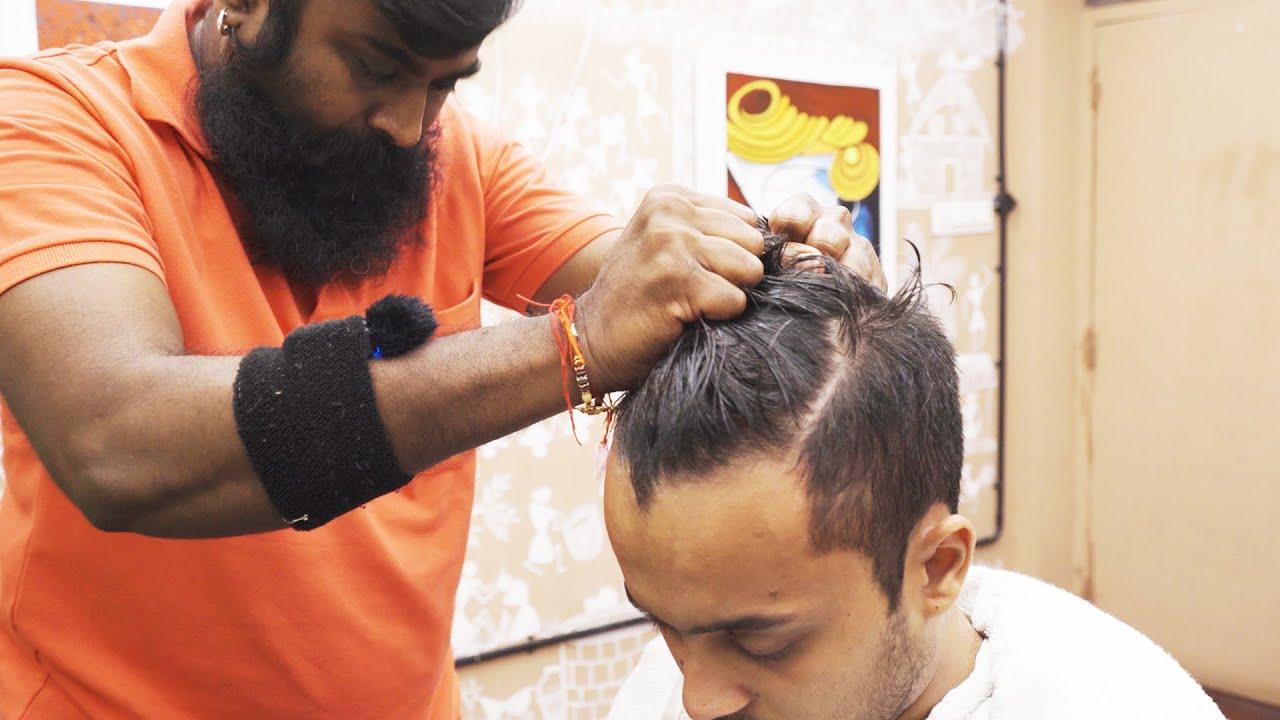 INDIAN HEAD MASSAGE 🧔🏽 YOGESH BIG BEARD | ASMR sleep