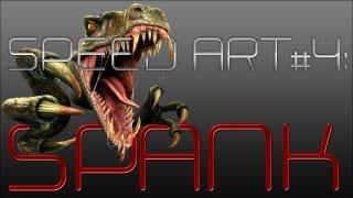 Speed Art #4: Spank Youtube bankground   Dino POWER!