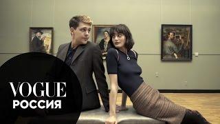 Милош Бикович и Сибуи Назаренко гуляют по Третьяковской галерее