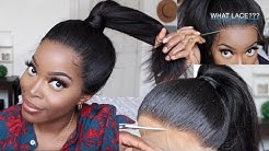 WHAT LACE??? How To put a 360 Lace Frontal wig Up in a Ponytail ft. Best lace wigs