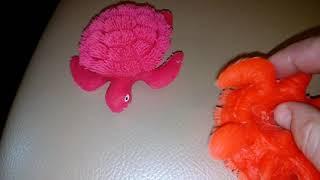 Обзор игрушек, мягкие , светящаяся черепахи