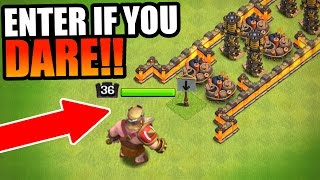 INSANE RED BARBARIAN KING TROLL BASE!!! - EPIC GAME PLAY! - Clash Of Clans