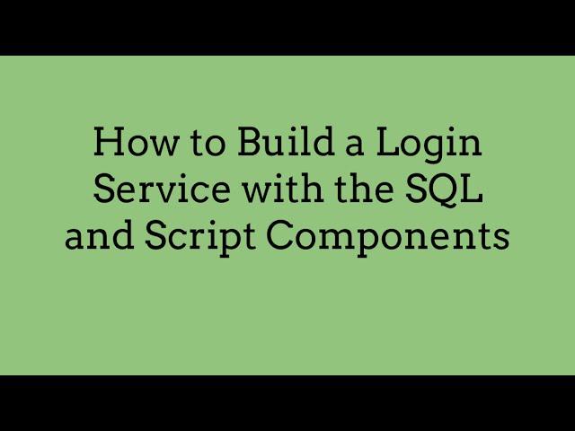 Video Tutorial: How to Build a REST API for a Custom SQL