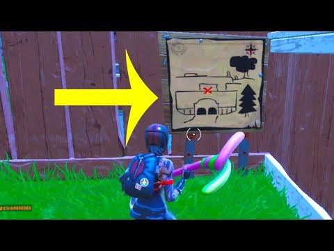 Risky Reels treasure map location - FORTNITE