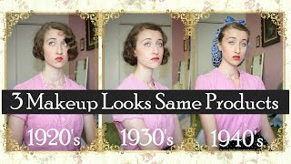 3 Decade Looks Using The Same Products 1920 S 1930 S 1940 S
