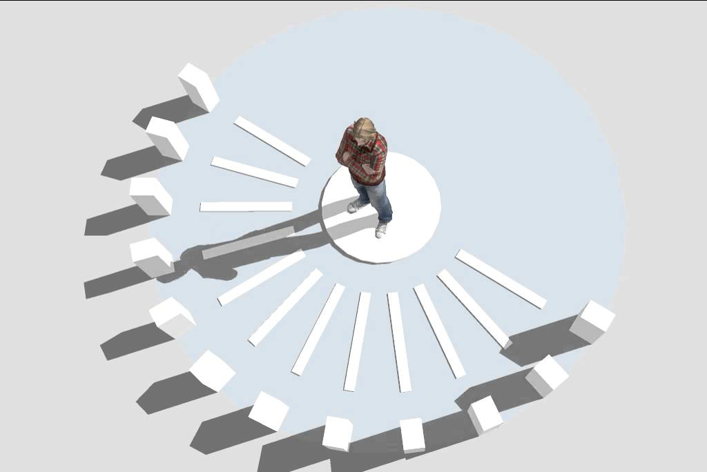 how to create a human sundial