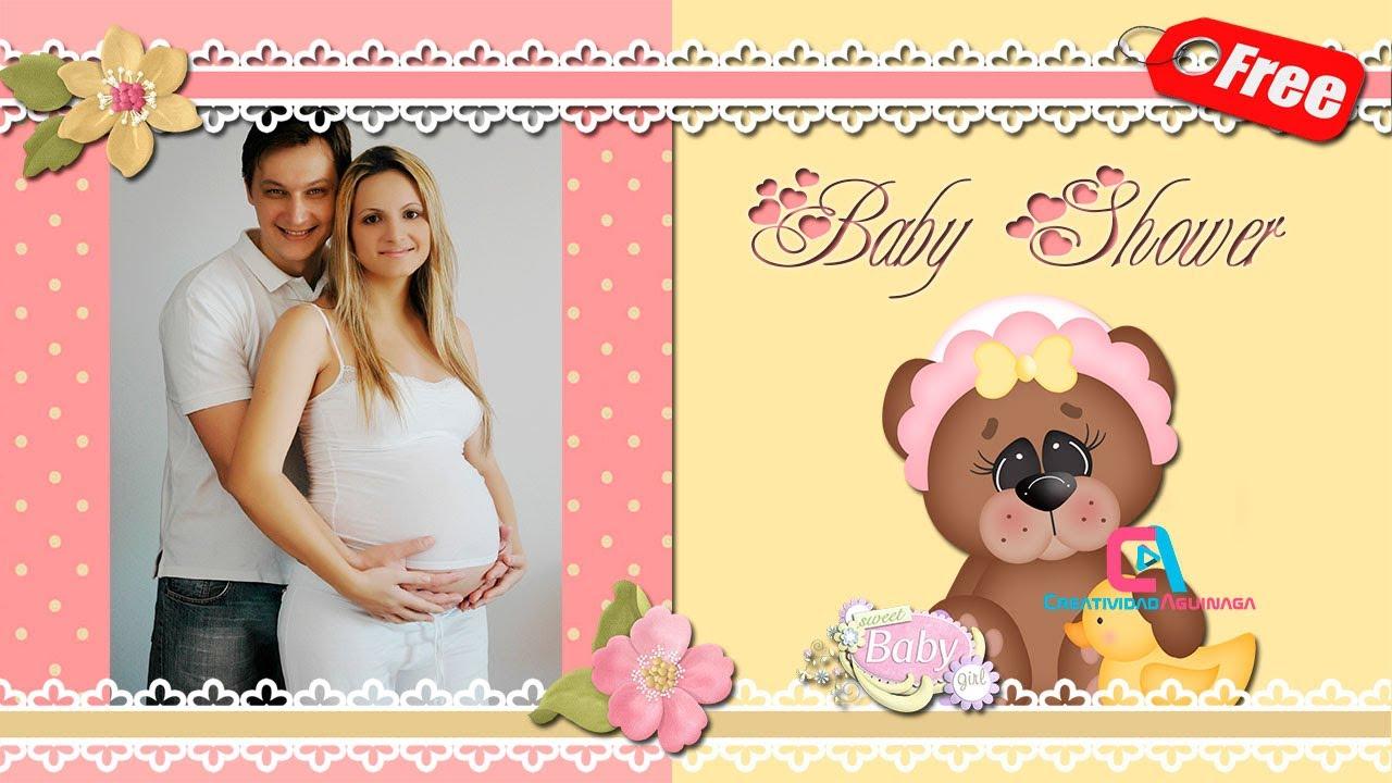 Invitación Baby Shower Digital Para Niña Proshowproducer