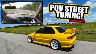 homepage tile video photo for POV Street tuning the Evo 3 - FIRST RIPS with BIG TURBO + ETHANOL!