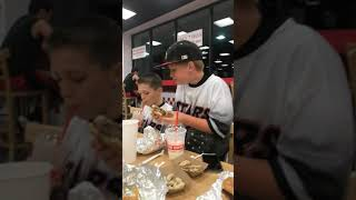 Five guy food reviews (and baseball team)