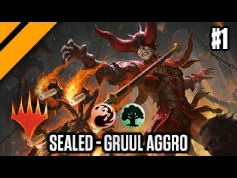 MTG Arena - Ravnica Allegiance Release - Sealed Gruul Aggro P1