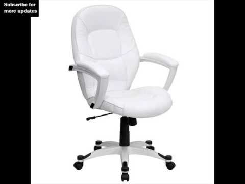 white leather office chairs white home chairs