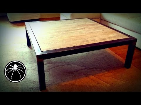 Diy fabriquer une table basse style industriel loft making coffee table - Fabriquer table basse bois ...