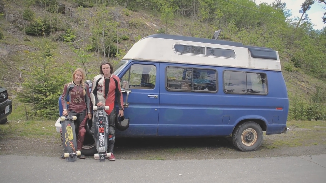 Skateboarder Couple Full Time Van Living In Canada