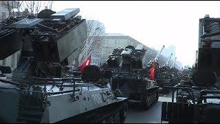 Северная Корея продемонстрировала военную мощь за день до старта Олимпиады в Пхёнчхане