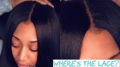 Lace Closure Quick Weave Tutorial (TALK THROUGH) ft March Queen Brazilian Straight Hair