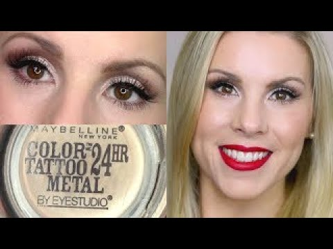 Eyeshadow tutorial barely branded maybelline color for Maybelline color tattoo barely branded
