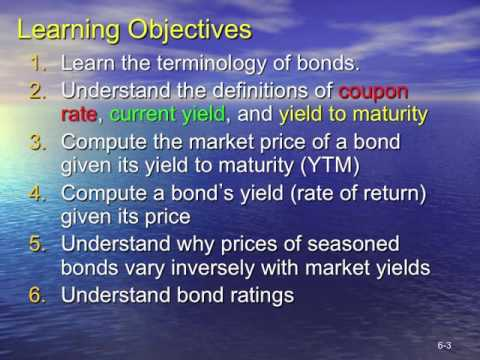 Topic 3 Valuing Bonds