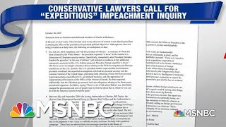 George Conway, Conservative Lawyers Call For 'Expeditious' Impeachment Probe | Hardball | MSNBC