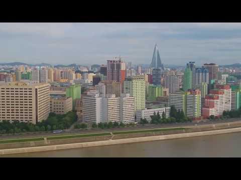 North Korea day 1. View from Yangakdo Hotel Pyongyang