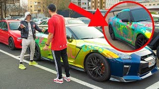 SPRAY PAINTING MY CAR IN PUBLIC!