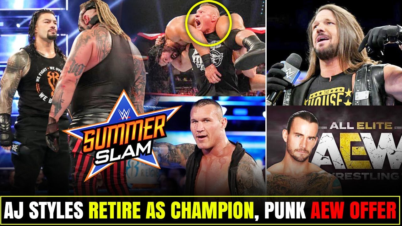 Leaked SummerSlam 2020 Plans, Real Life Fight? Styles Retire as Champion? CM Punk AEW,  Brock Return