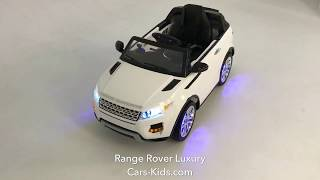 Электромобиль Range Rover Luxury White 12V 2.4G