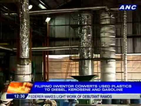 FILIPINO INVENTOR PLASTIC TO FUEL