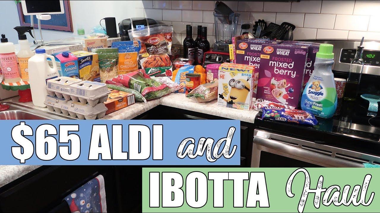 65 Aldi Ibotta Grocery Haul Pantry Challenge Youtube