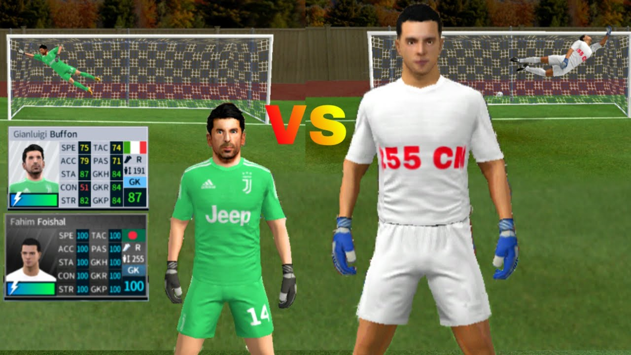 Gianluigi Buffon VS Tallest Goalkeeper 255cm ● Penalty Shootout ● Dream  League Soccer 2019