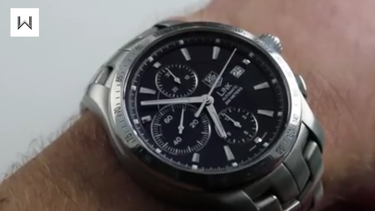 895f264e24e8 TAG Heuer Link Chronograph CJF2110.BA0594 Luxury Watch Review - YouTube