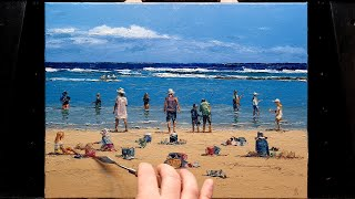 The Competition - Palette Knife | Brush - Oil Painting - Normal Speed