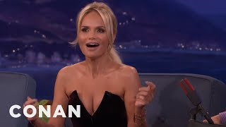 Kristin Chenoweth Accidentally Flashed Her Audience  - CONAN on TBS