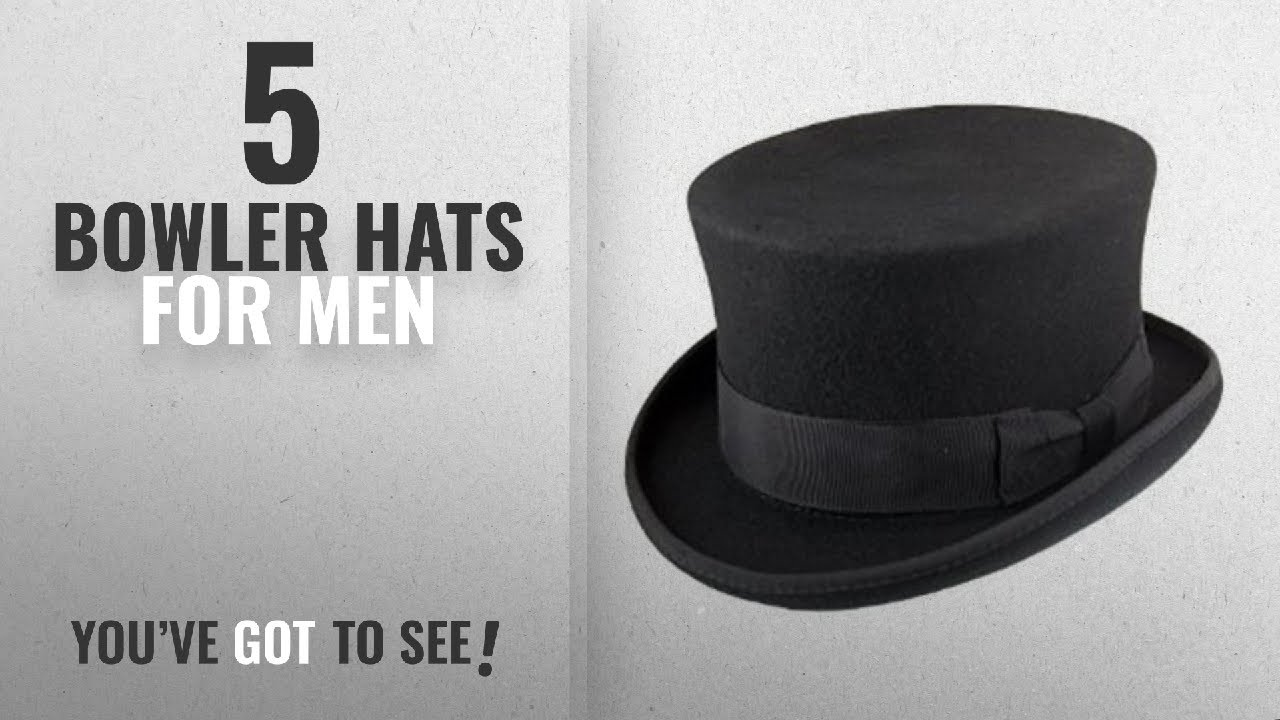 304738bca84 Top 10 Bowler Hats For Men  2018   High Quality Hand Made 100% Wool Satin  Lined Top Hat Small to XXL