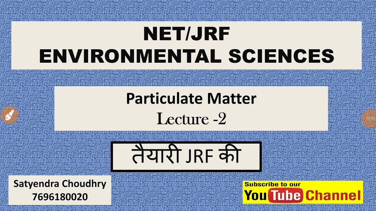 Environment science NTA NET JRF | air pollution | particulate matter | mind mapping