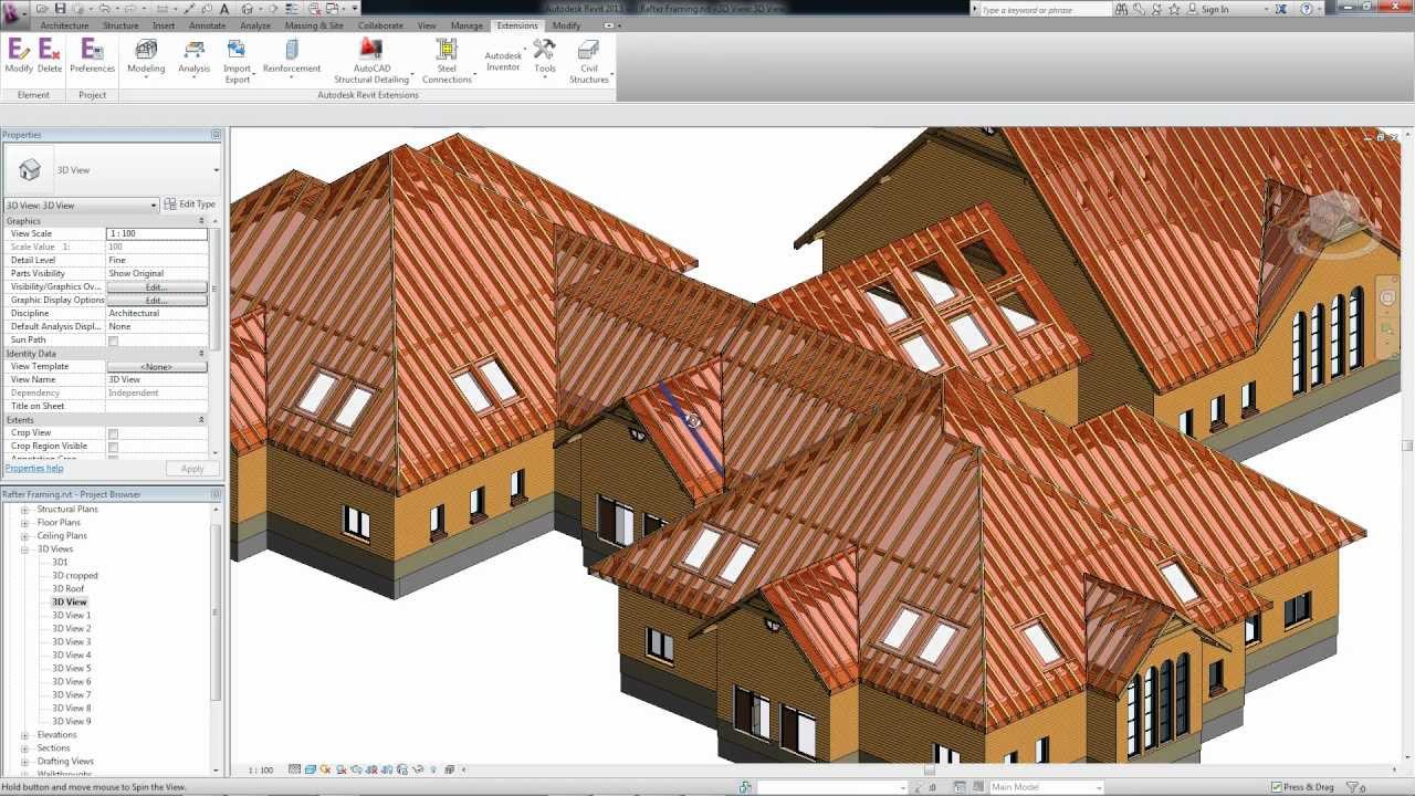 Roof Framing Extensions For Autodesk Revit Youtube