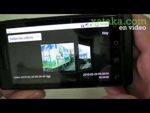 Motorola Milestone con Android, análisis en vídeo