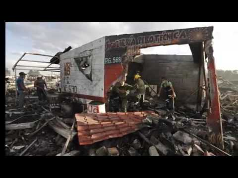Explosion rocks fireworks market outside Mexico City local media reports