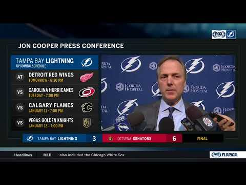 Jon Cooper -- Tampa Bay Lightning at Ottawa Senators 01/06/2018