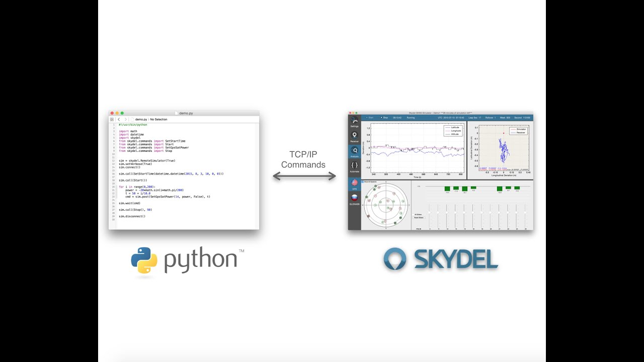 How to use Python to interface with the Skydel GNSS Simulator