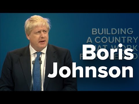 Boris Johnson: Speech to Conservative Party Conference 2017