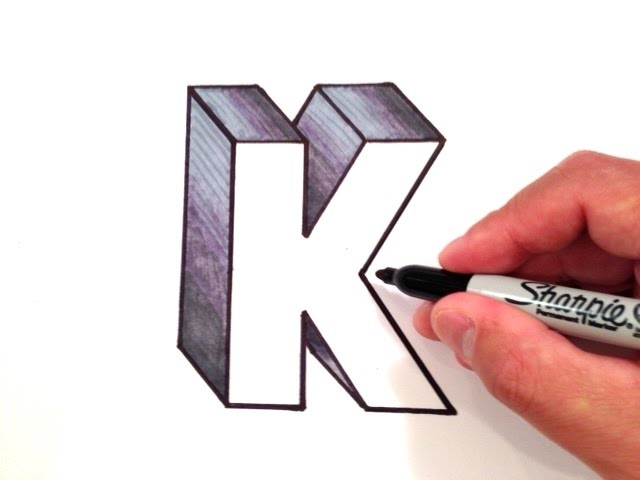 how to draw the letter k in 3d youtube how to draw the letter k in 3d youtube