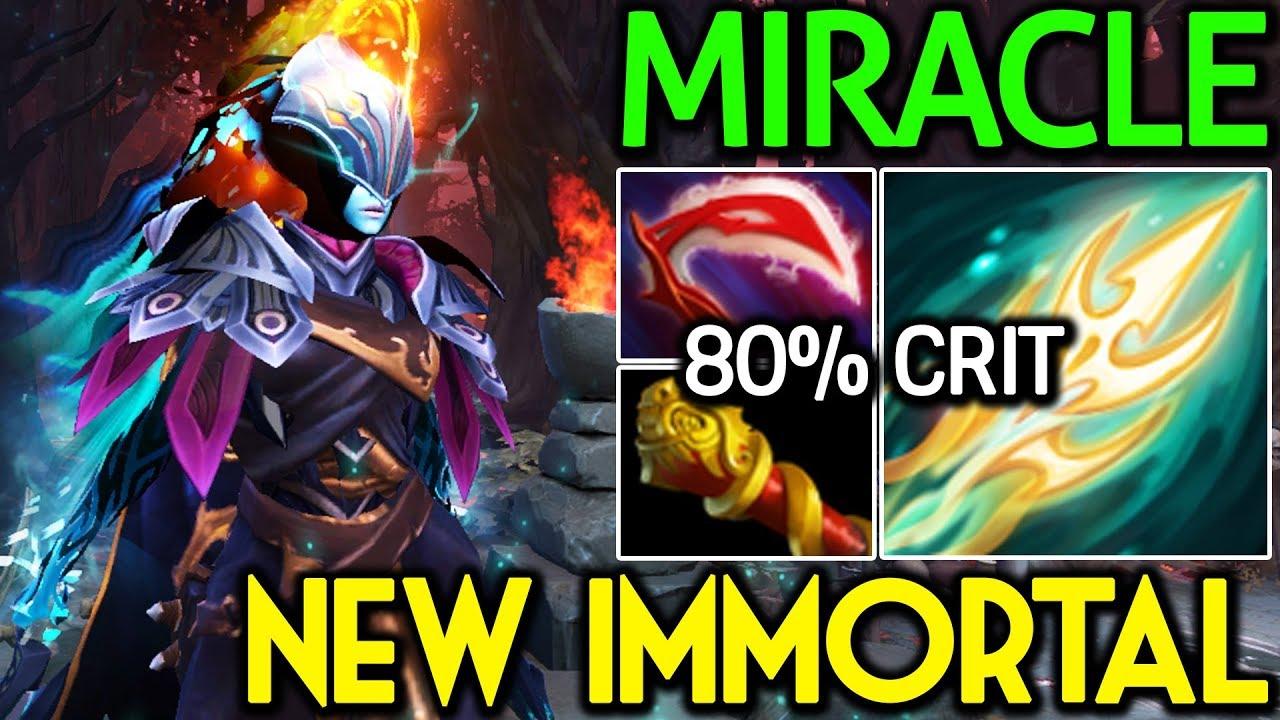 Dota 2 Immortal 15: Miracle- [Phantom Assassin] New Immortal Ti 8 With 80
